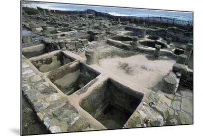 Salt Tanks, Baelo Claudia, Andalusia, Spain. Roman Civilization BC-2nd Century AD--Mounted Giclee Print