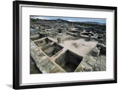Salt Tanks, Baelo Claudia, Andalusia, Spain. Roman Civilization BC-2nd Century AD--Framed Giclee Print