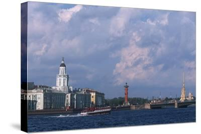 Russia, Saint Petersburg, Historic Centre, Vasilievsky Island--Stretched Canvas Print