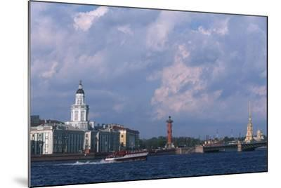 Russia, Saint Petersburg, Historic Centre, Vasilievsky Island--Mounted Giclee Print
