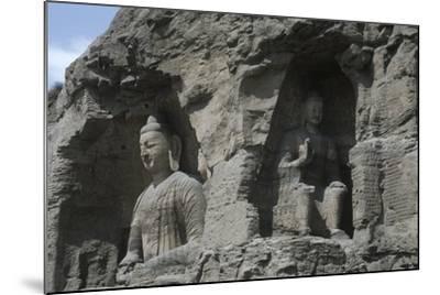 China, Shanxi Province, Buddha Statues at Yungang Grottoes--Mounted Giclee Print