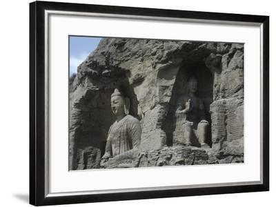 China, Shanxi Province, Buddha Statues at Yungang Grottoes--Framed Giclee Print