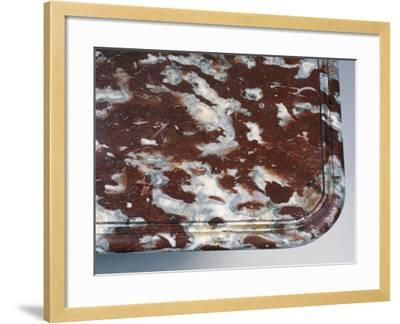 Top of Louis XIV Style Oak and Red Languedoc Marble Console Table, France, Detail--Framed Giclee Print