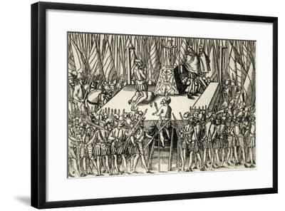 Beheading of Lamoral, Count of Egmont, and Philip De Montmorency, Count of Horn, 1568--Framed Giclee Print