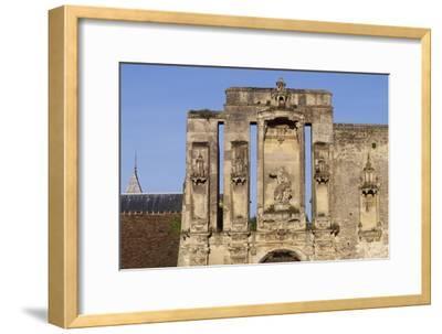 Ruins at Entrance of Nantouillet Castle, Ile-De-France--Framed Giclee Print