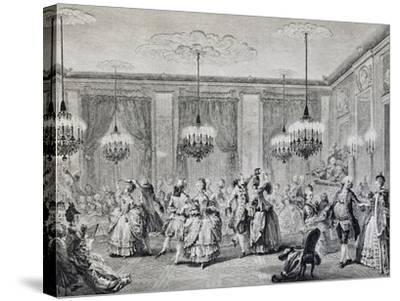 Dance in Ballroom, French Print--Stretched Canvas Print