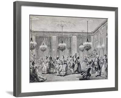 Dance in Ballroom, French Print--Framed Giclee Print