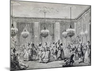 Dance in Ballroom, French Print--Mounted Giclee Print