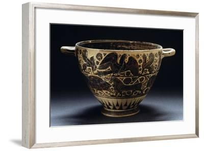 Corinthian Skyphos Depicting Animals and Floral Motifs--Framed Giclee Print