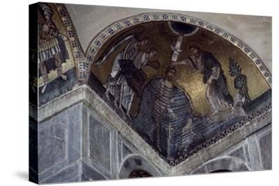 Mosaic of Baptism of Christ in Hosios Loukas Monastery, Greece, Founded in Early 10th Century--Stretched Canvas Print