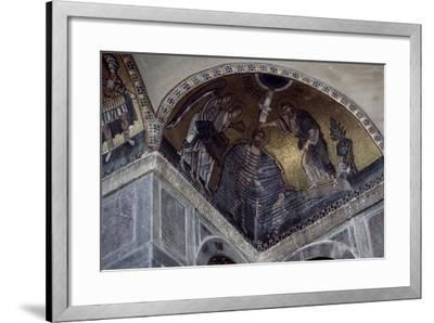 Mosaic of Baptism of Christ in Hosios Loukas Monastery, Greece, Founded in Early 10th Century--Framed Giclee Print