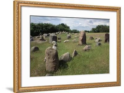 Triangular Grave, Viking Burial Site, Lindholm Hoje, Aalborg, Jutland, Denmark--Framed Giclee Print