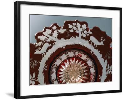 Detail of Crystal Centerpiece Decorated with Hunting Scenes--Framed Giclee Print