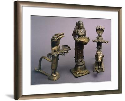 Bronze Lamps from Southern India, Indian Civilization--Framed Giclee Print