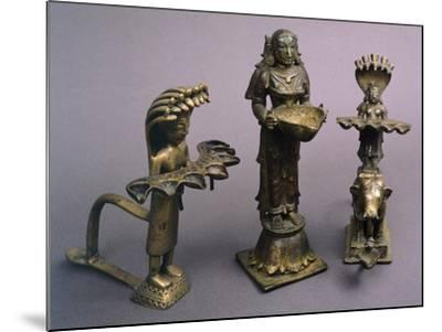 Bronze Lamps from Southern India, Indian Civilization--Mounted Giclee Print