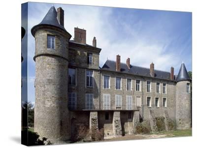 View of Chateau De La Motte Nangis, Nangis, Ile-De-France, France--Stretched Canvas Print
