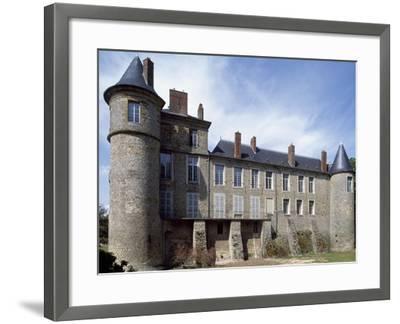 View of Chateau De La Motte Nangis, Nangis, Ile-De-France, France--Framed Giclee Print