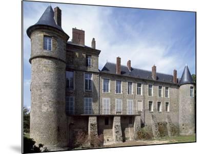 View of Chateau De La Motte Nangis, Nangis, Ile-De-France, France--Mounted Giclee Print