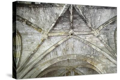 Cross Vaults, Detail from Cloisters of Narbonne Cathedral, Narbonne, Languedoc-Roussillon--Stretched Canvas Print