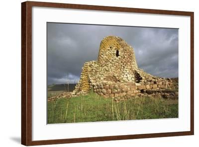 Italy, Sardinia Region Macomer, Province of Nuoro, Nuraghe Santa Barbara--Framed Giclee Print