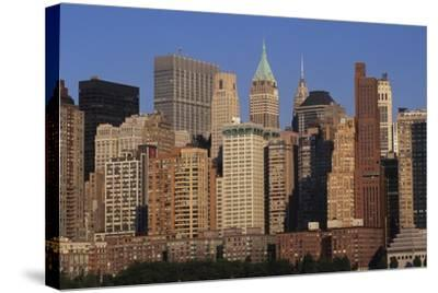 Lower Manhattan Seen from a Boat, New York, United States. Aerial View--Stretched Canvas Print