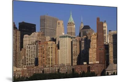 Lower Manhattan Seen from a Boat, New York, United States. Aerial View--Mounted Giclee Print