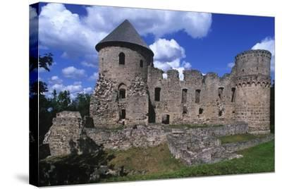 Latvia, Vidzeme, Cesis, Ruins of 14th Century Castle--Stretched Canvas Print