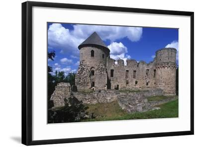 Latvia, Vidzeme, Cesis, Ruins of 14th Century Castle--Framed Giclee Print