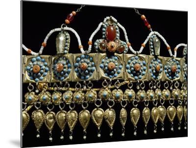 Crown of Silver-Gilt, Coral, Turquoise and Glass Paste from Samarkand, Uzbekistan--Mounted Giclee Print