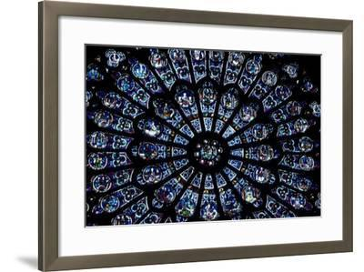 North Rose Window of Notre Dame Cathedral, Paris, Ile-De-France, France--Framed Giclee Print