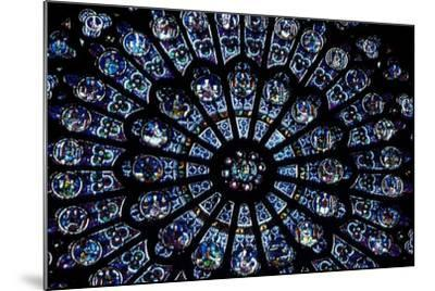 North Rose Window of Notre Dame Cathedral, Paris, Ile-De-France, France--Mounted Giclee Print