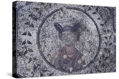 Spain, Andalusia, Carmona, Roman Mosaic in House of Planetarium, Detail--Stretched Canvas Print