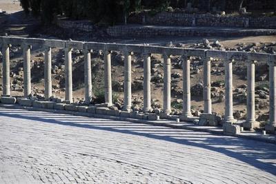 Ruins of Forum of Jerash, Jordan Ad--Framed Giclee Print