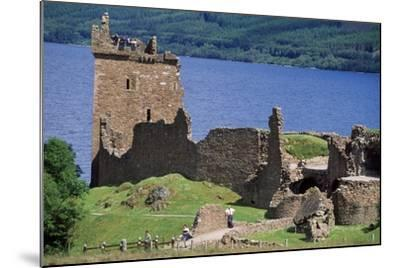 View of Urquhart Castle with Loch Ness in the Background--Mounted Giclee Print
