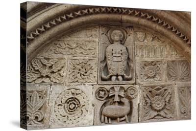 Agnus Dei, Relief from Tympanum of St-Michel Chapel--Stretched Canvas Print
