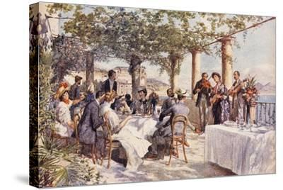 Restaurant Musicians, 1933, Italy--Stretched Canvas Print