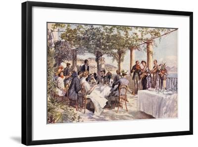 Restaurant Musicians, 1933, Italy--Framed Giclee Print