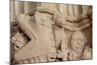 Spain, Navarre, Ujue, Church of Santa Maria, Decorated Capital--Mounted Giclee Print