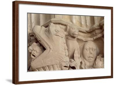 Spain, Navarre, Ujue, Church of Santa Maria, Decorated Capital--Framed Giclee Print