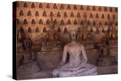 Detail of the Statues of Wat Si Saket Buddhist Temple, Dating Back to 1818, Vientiane, Laos--Stretched Canvas Print