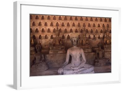 Detail of the Statues of Wat Si Saket Buddhist Temple, Dating Back to 1818, Vientiane, Laos--Framed Giclee Print
