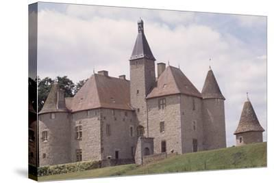 Chateau De Beauvoir-Sur-Saint-Pourcain Besbre, Auvergne, France--Stretched Canvas Print
