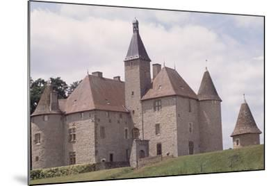 Chateau De Beauvoir-Sur-Saint-Pourcain Besbre, Auvergne, France--Mounted Giclee Print