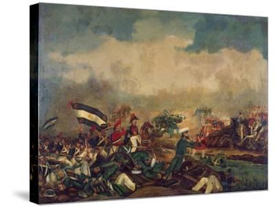 Battle of Arroyo Grande, December 6, 1842--Stretched Canvas Print