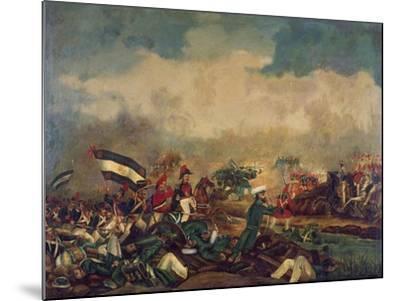 Battle of Arroyo Grande, December 6, 1842--Mounted Giclee Print