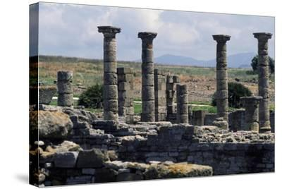 Columns of the Roman Basilica, Baelo Claudia, Andalusia, Spain--Stretched Canvas Print