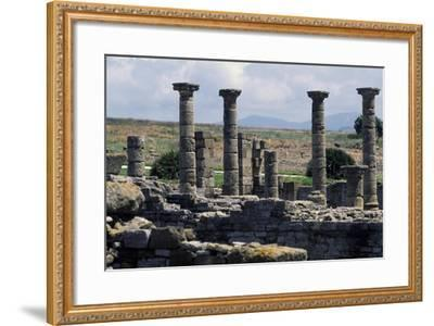 Columns of the Roman Basilica, Baelo Claudia, Andalusia, Spain--Framed Giclee Print