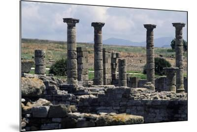 Columns of the Roman Basilica, Baelo Claudia, Andalusia, Spain--Mounted Giclee Print