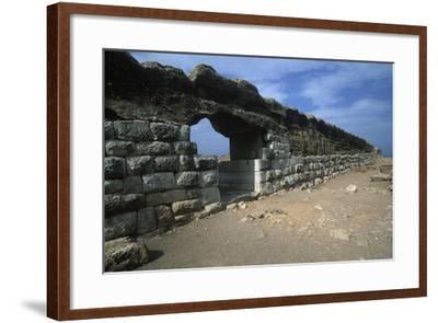 Spain, Catalonia, La Escala, Roman Ampurias, City Walls--Framed Giclee Print