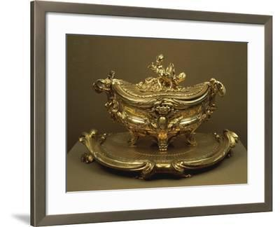 Gilded Silver Tureen and Tray--Framed Giclee Print
